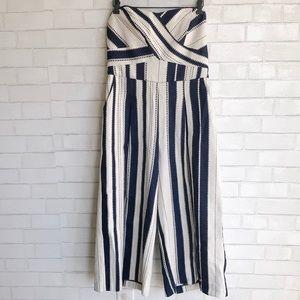 Greylin Justyna Striped Jacquard Jumpsuit Large